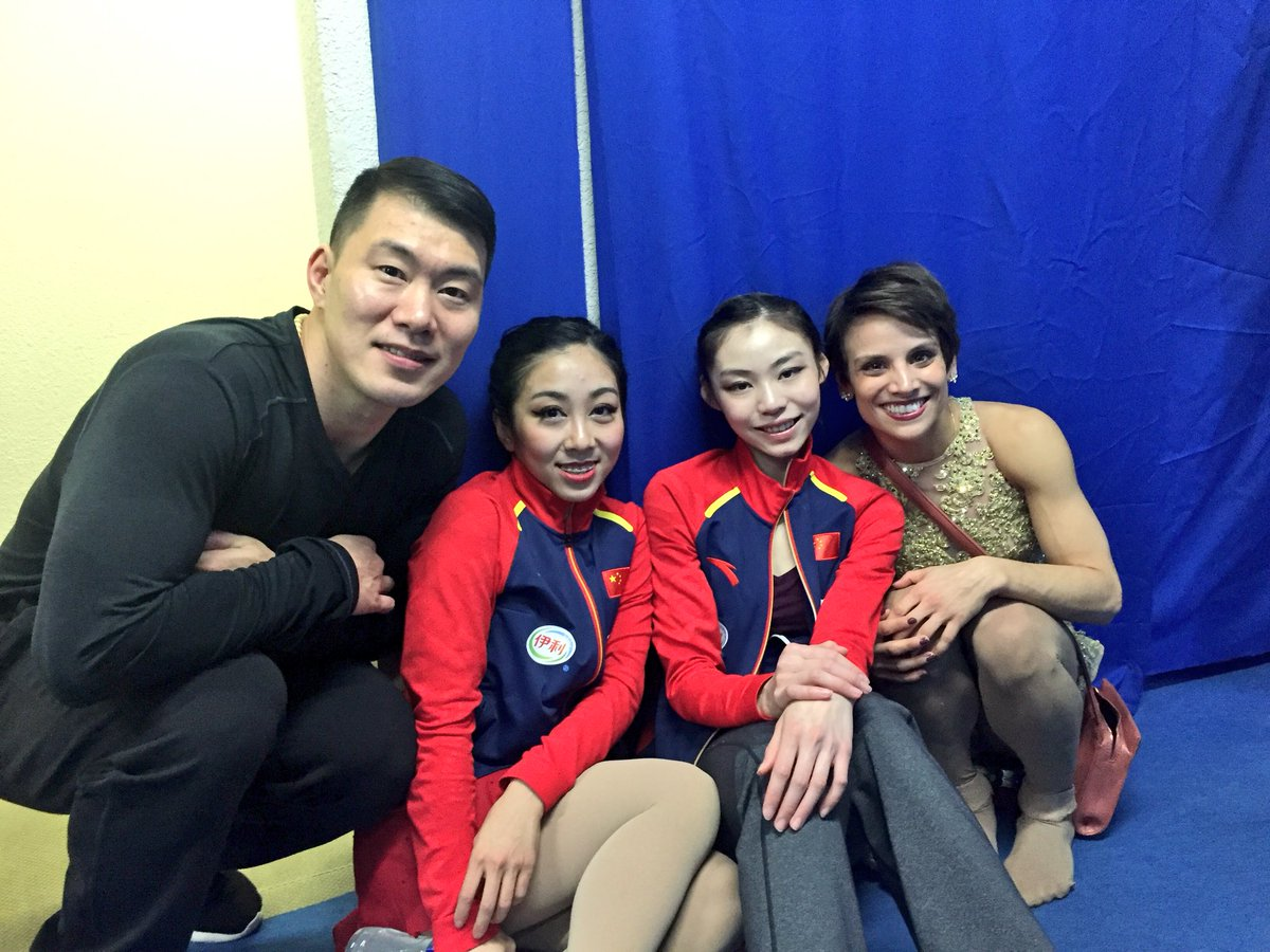 Happy campers 😍 #friends #competitors #figureskating #GPFigure #GPF17