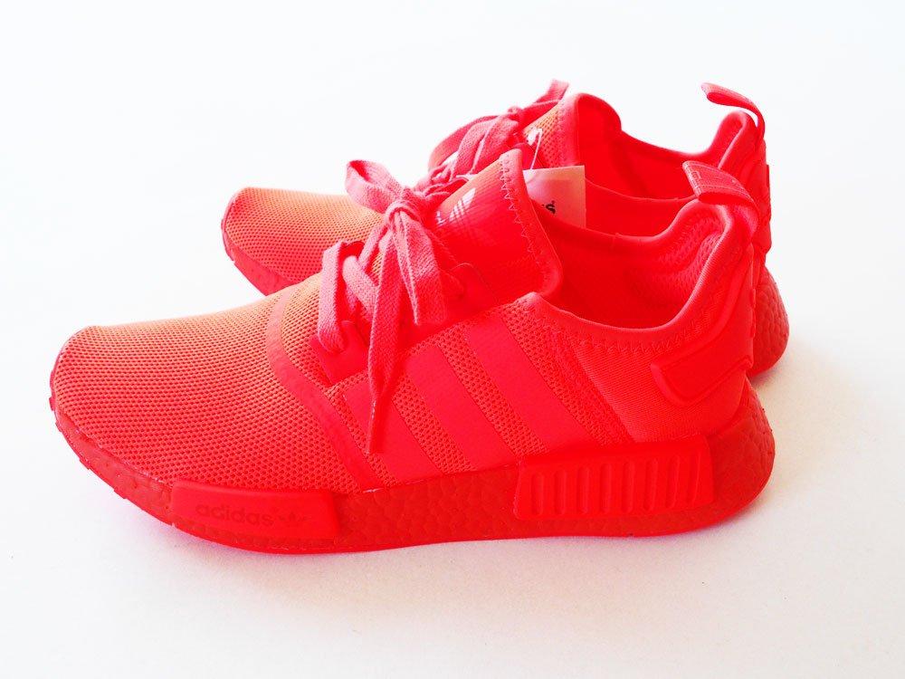 Grey White NMD R1 Primeknit Shoes adidas US