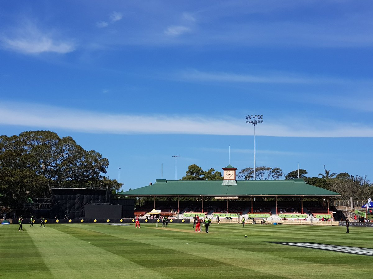Cricket at the picturesque North Sydney...