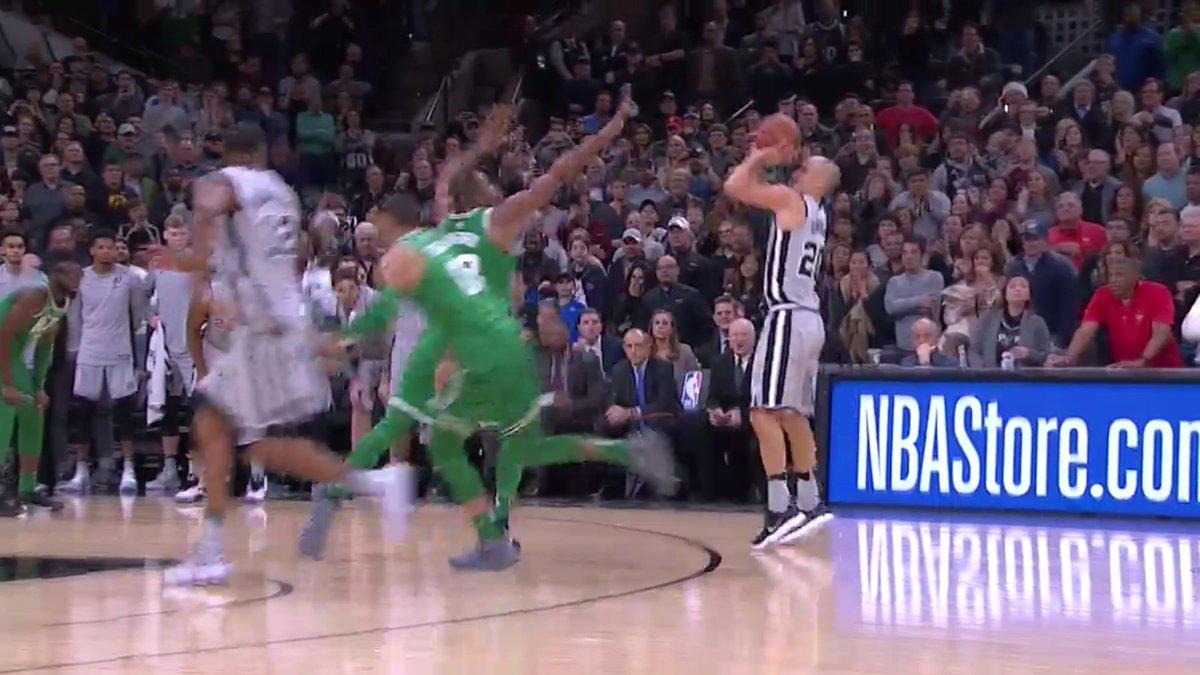 【影片】薑還是老的辣!Ginobili搶到進攻籃板後貢獻三分準絕殺!
