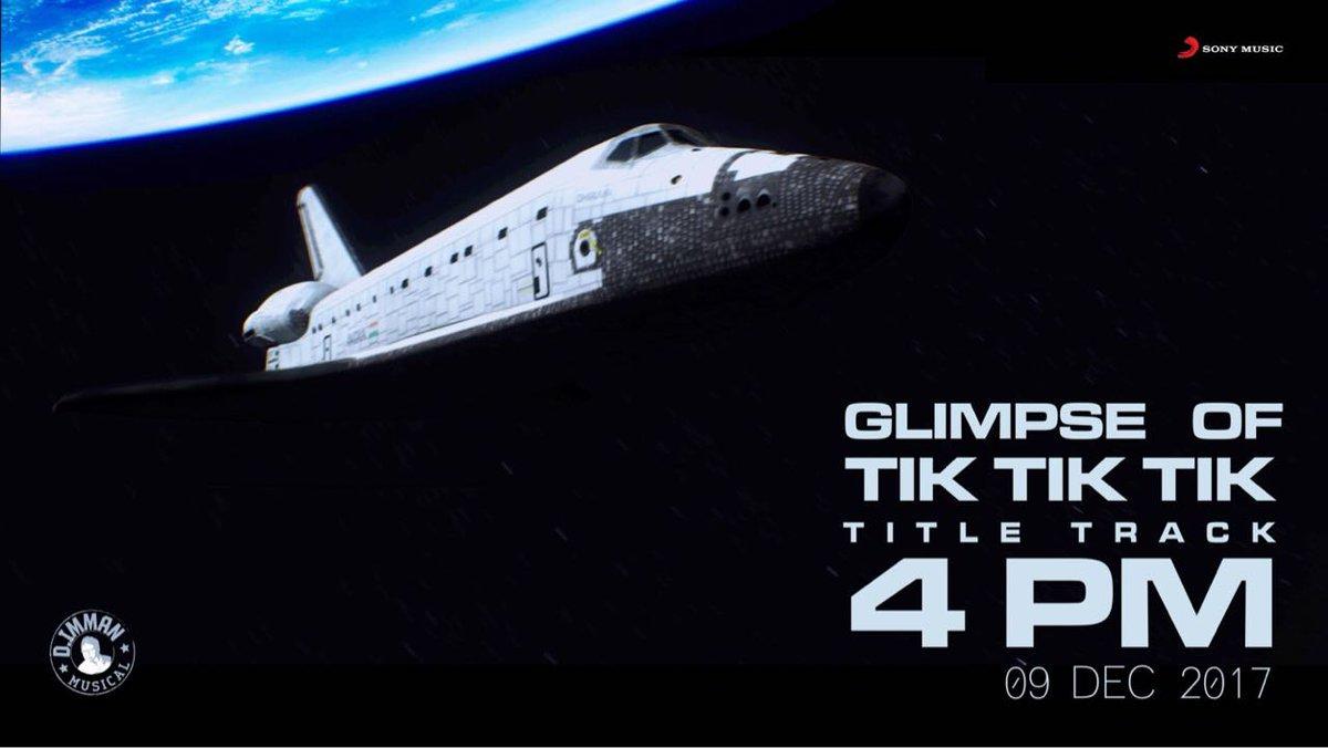 Title track of #TikTikTik is releasing tomorrow.   A song with Imman, Yuvan, Sunitha & Yogi B.   Glimpse of the track  from 4pm today.   @immancomposer @ShaktiRajan @actor_jayamravi  @thisisysr @SunithaSarathy @iamyogib @SonyMusicSouth