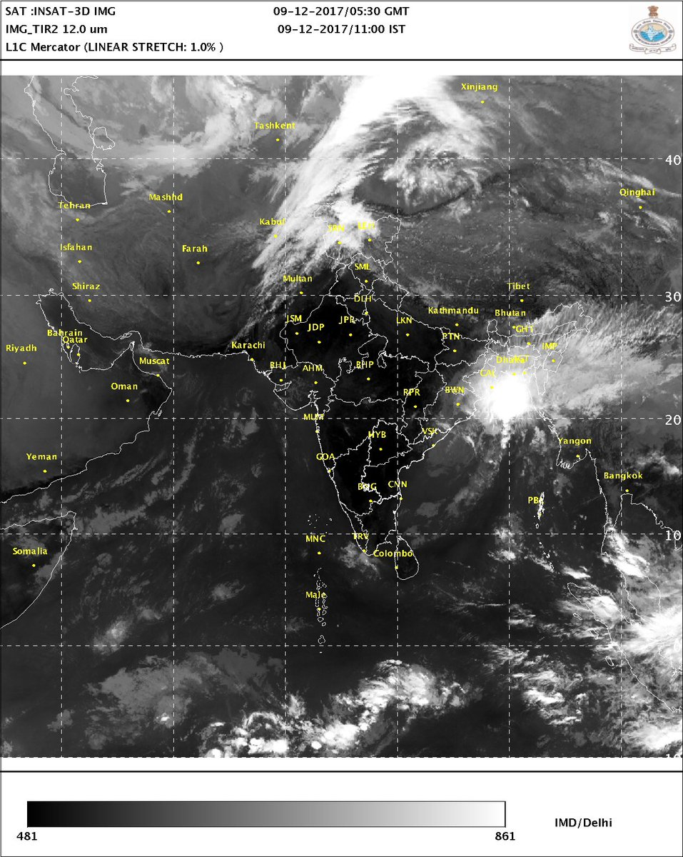 Depression over NW BayofBengal moved NNEwards& is about170km east ofGopalpurSystem is likely to move NNEwards along & off Odisha coast towards WBengal &adjoiningBangladeshCoast Likely to maintain its intensity during 24 hours & weaken into a well marked low during later12 hrs