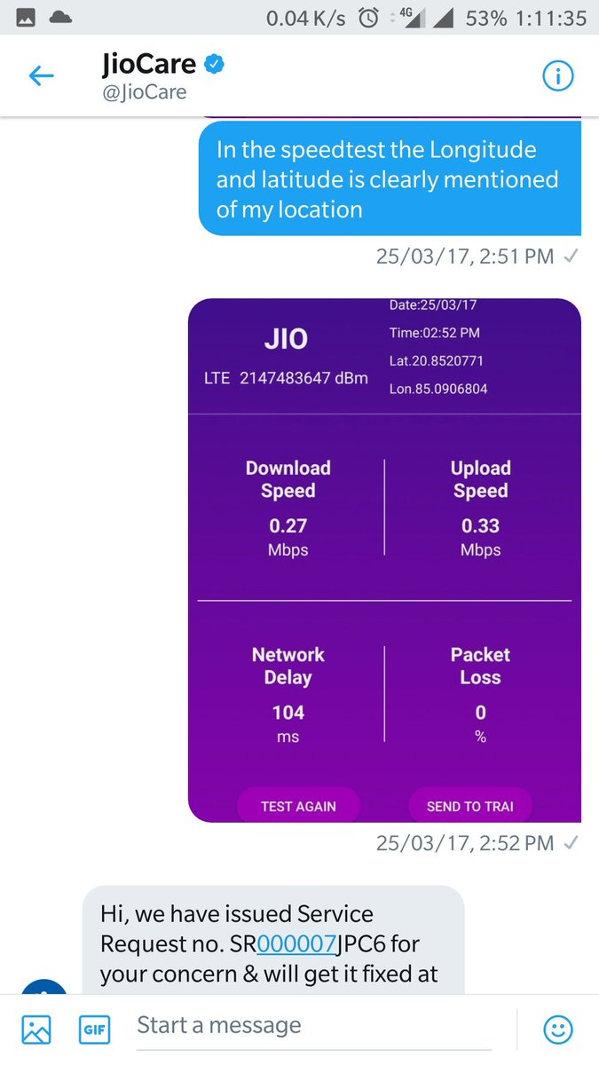 jiocare on twitter we are here to help you request you to dm your