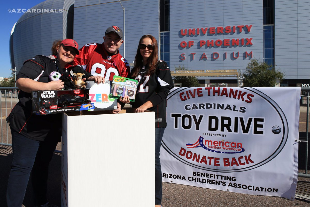 Arizona Cardinals on Twitter: Our toy drive with @AmericanFurn is