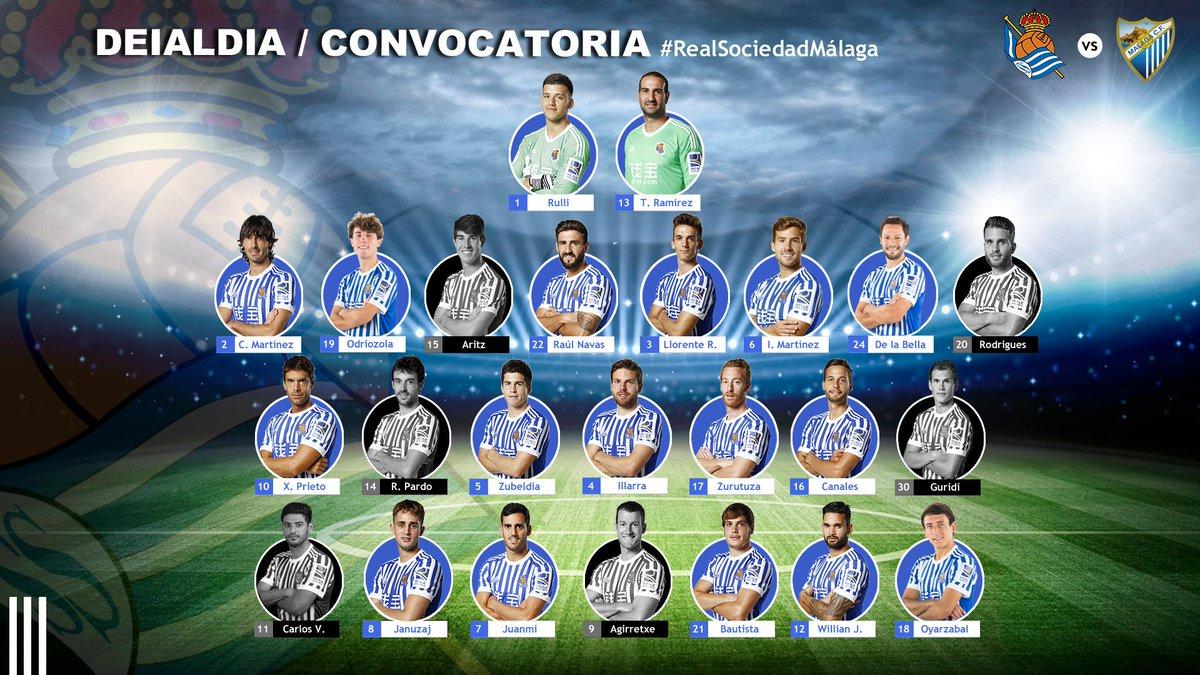 DQm3gr9XcAE7WFj Convocatoria de la  Real Sociedad para el partido ante el Málaga - Comunio-Biwenger