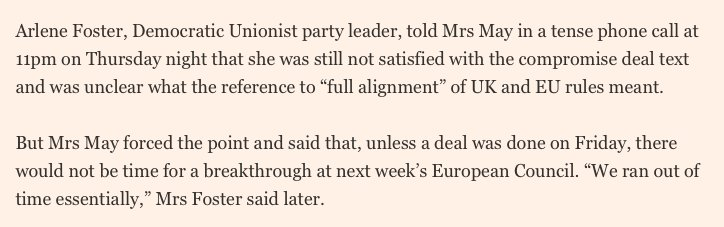 DUP isn't fully on board with May's deal. It could pull the plug later.