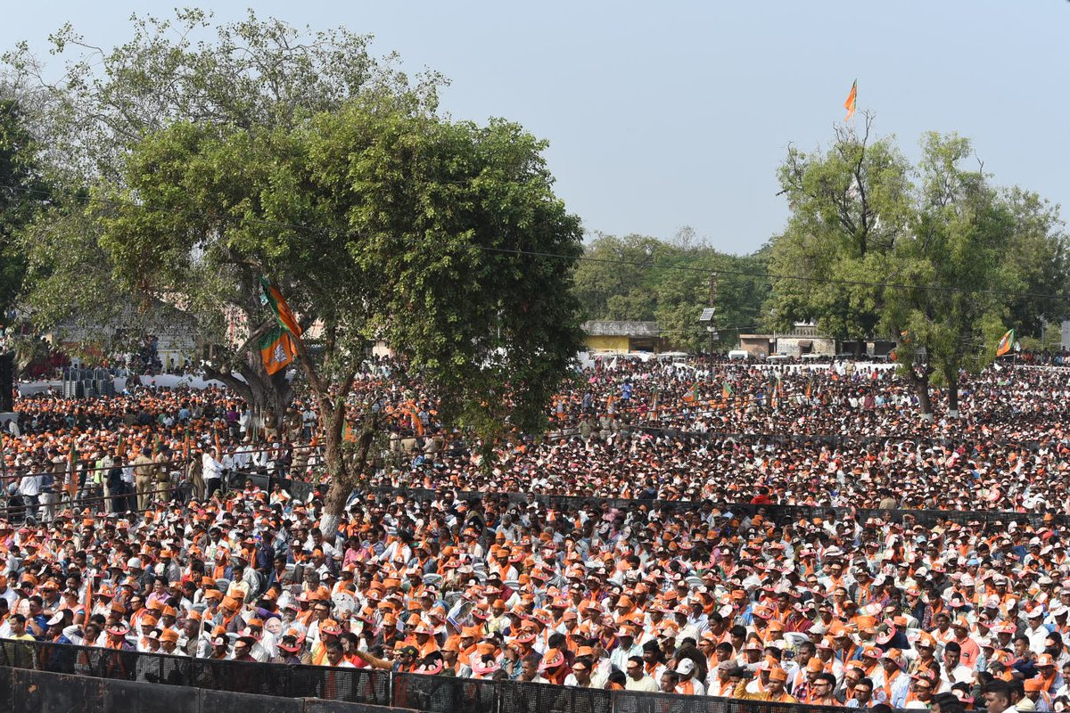 Bodeli is all set to support BJP in the upcoming elections. Here are pictures from today's rally.