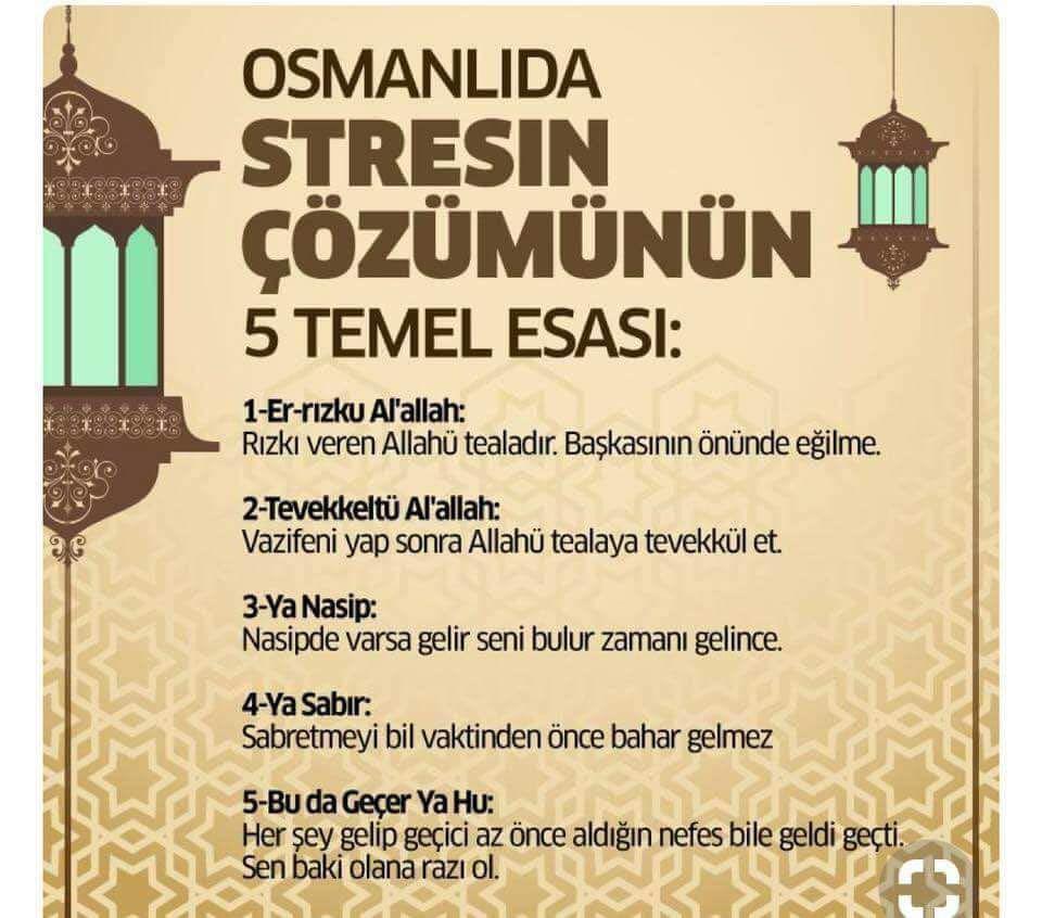 Osmanlı'da stresle nasıl baş ediliyormuş...
