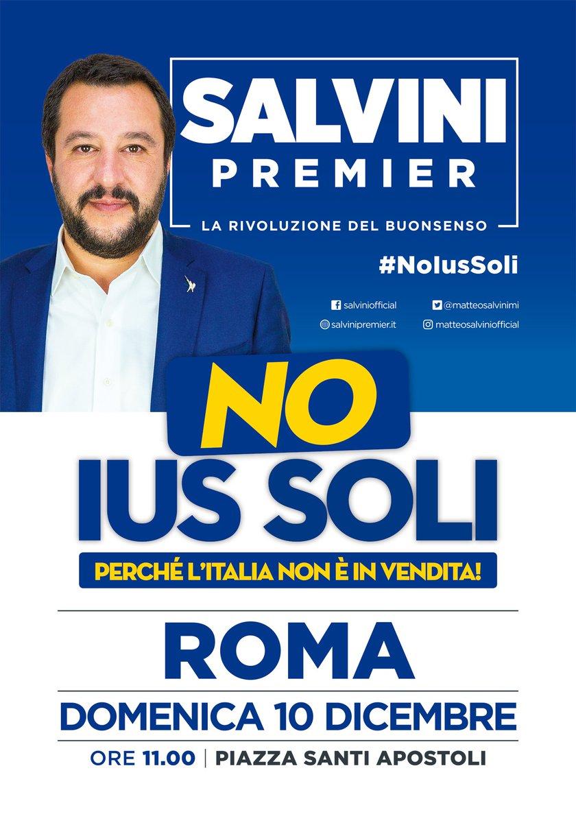 C'è chi fa il ponte, c'è chi va in piazza. Alle 11, a Roma in piazza Santi Apostoli, domani aspetto anche TE! #primagliitaliani #andiamoagovernare
