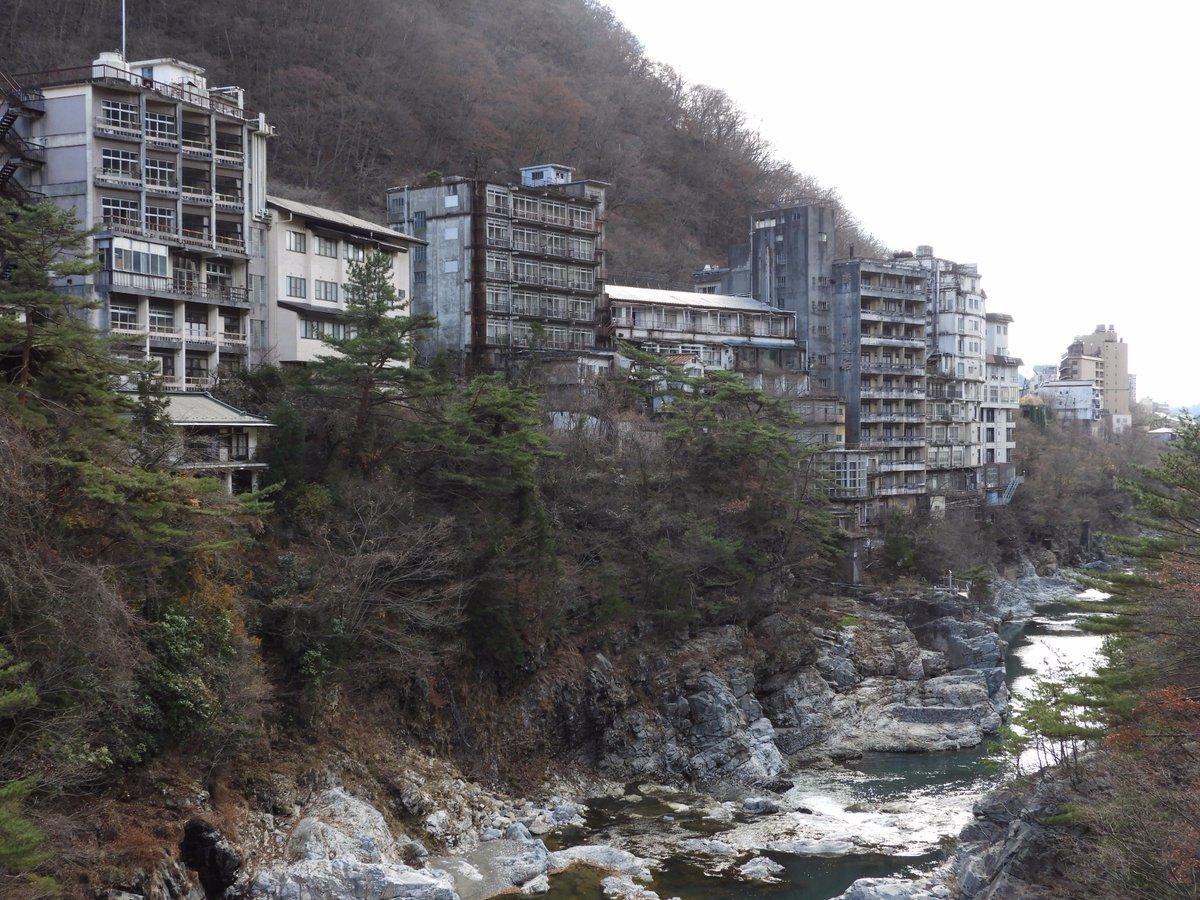 鬼怒川温泉の廃ホテル群。 噂には聞いてたけど現地で実際に見たら圧倒された。