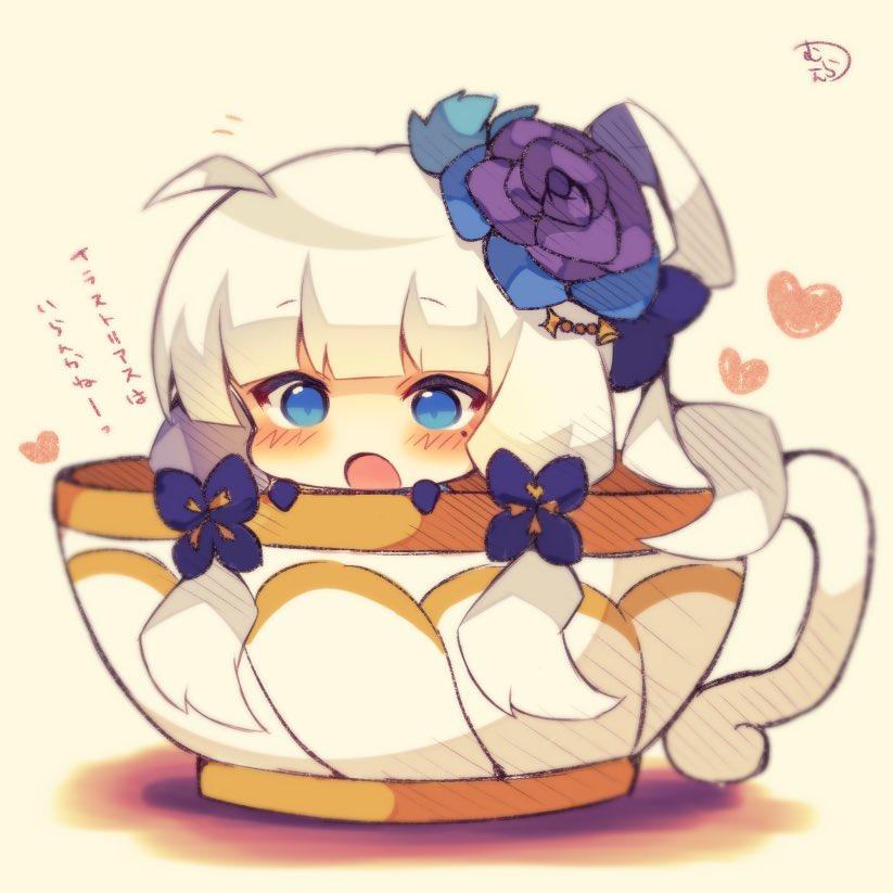 お茶会イラストリアスちゃんが可愛い件  #アズールレーン