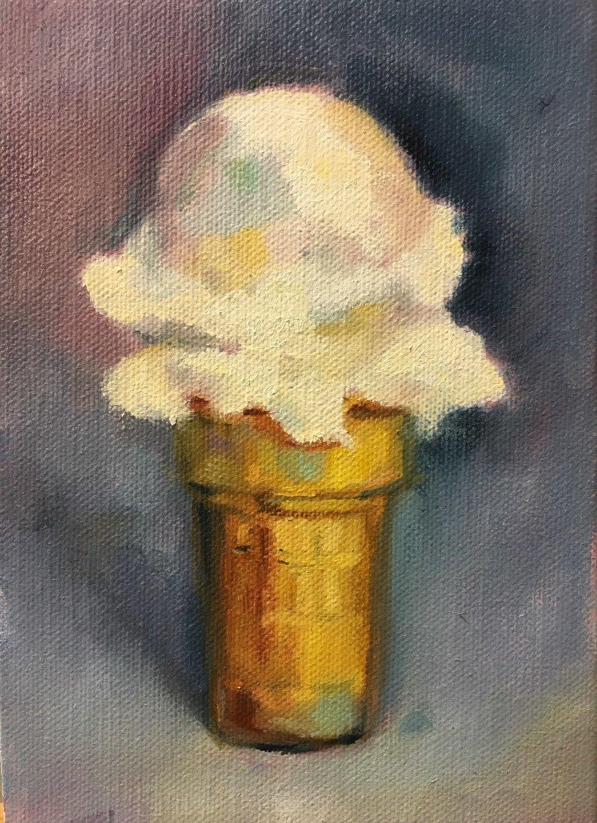 Sowaartistsguild On Twitter Vanilla Ice Cream Cone By