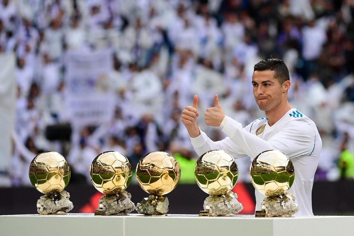 Cristiano Ronaldo's five Ballon d'Ors. #CRI5TIANO https://t.co/ZG6e99bMBM