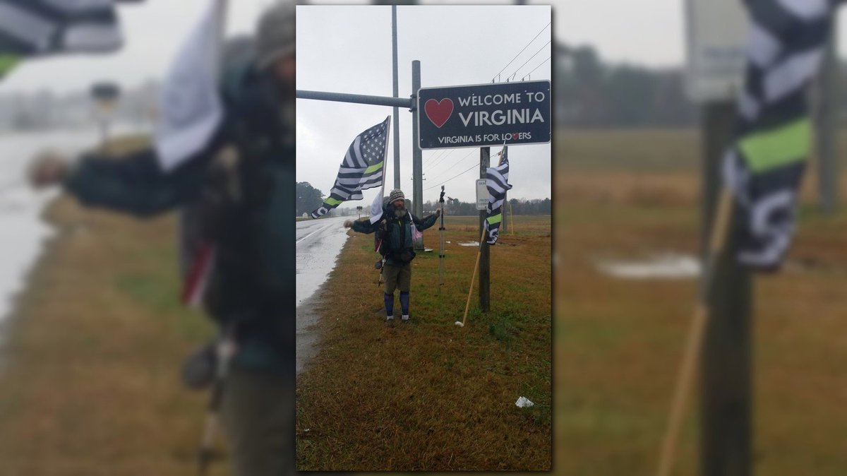 Marine Corps Veteran to end 222-mile hike in Virginia Beach https://t.co/46DhJ0sGvU