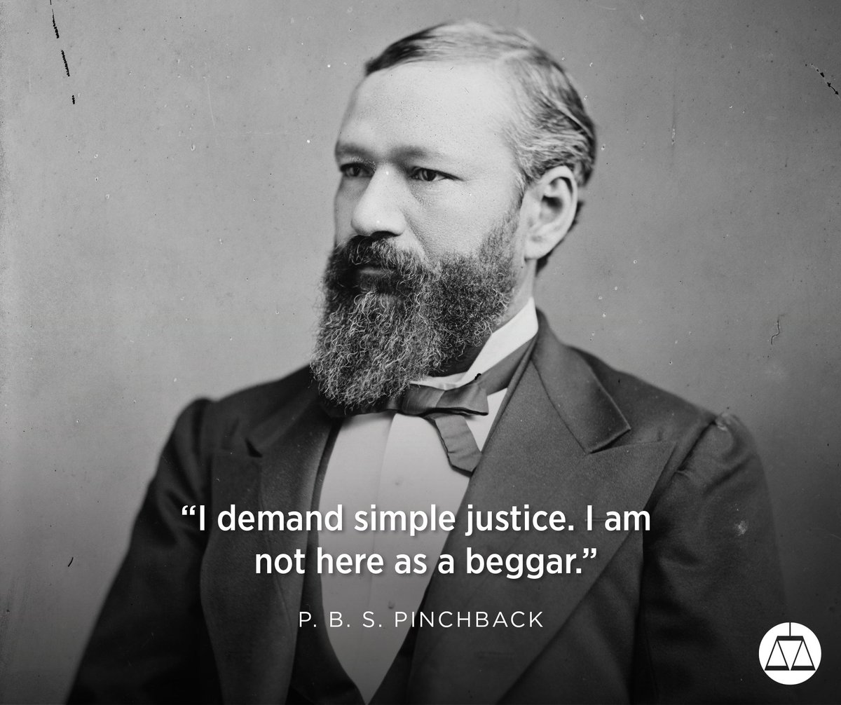 On this day in 1872, P. B. S. Pinchback became the first black man to be governor in the United States. He held office in Louisiana. #TheMarchContinues