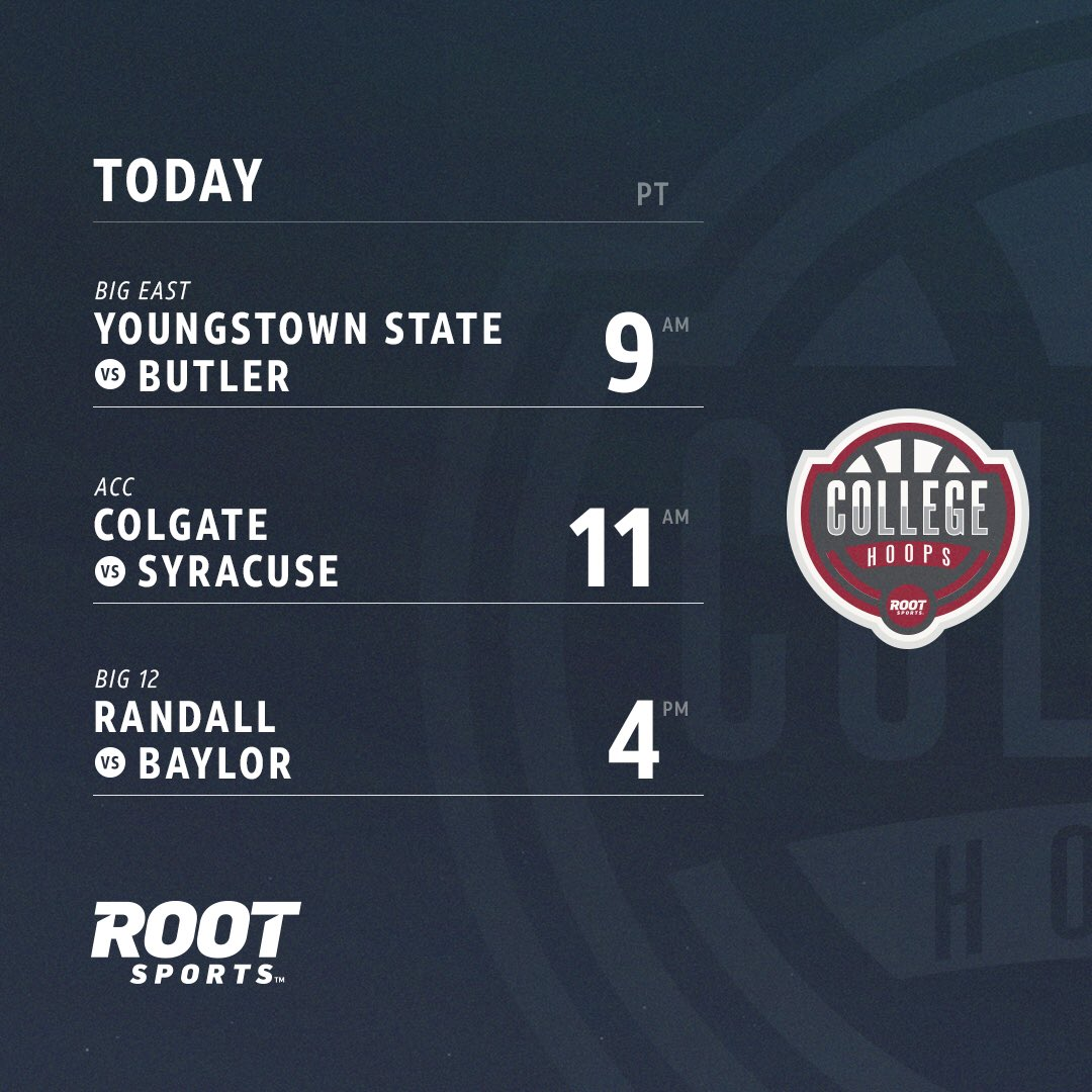 We've a got a full day of college hoops...