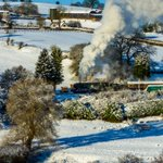 @svrofficialsite the Sir Kieth Park steaming out of Hampton Loade, just the perfect Winter Wonderland day for the Santa Specials.