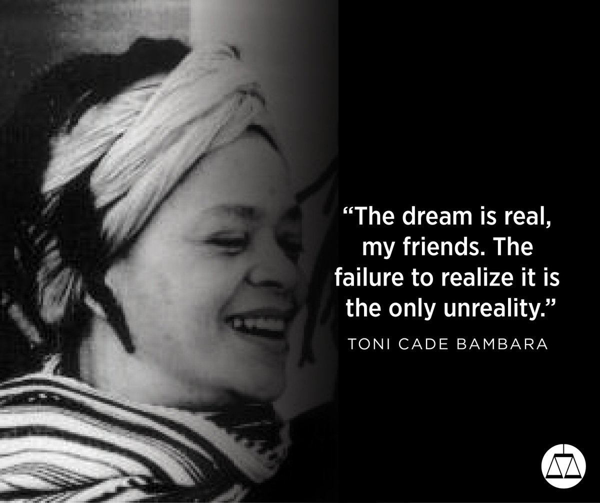 Toni Cade Bambara was an author, activist and educator. She died 22 years ago today. #RestinPower #TheMarchContinues