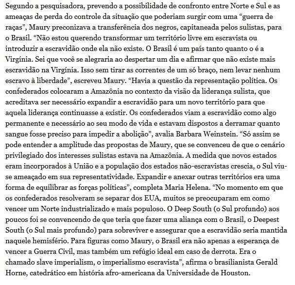 @CanalZeroMega @carapanarana @gutgot @andreaugfonseca @gierrioliveira @AgoraNaPolitica @purassih A hist @chucroteca @Suxbernardo @Ihateidiots @JornalismoWando @bslvra @aeciodepapelao @anacronices @anarcobs @glaubermacario7ória é mais complicada: ANTES da guerra da Secessão, os escravagistas dos EUA queriam anexar a Amazônia (como também Cuba e América Central) para garantir o futuro da escravidão  httphttps://t.co/BFC2HRLPl5s://t.co/stJtCF9lWv