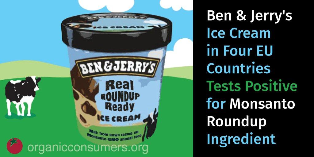 Studies show the level of @MonsantoCo #Roundup weedkiller found in @benandjerrys is bad for your #health. #Glyphosate #BuyOrganic https://t.co/UwmxlWRnoO