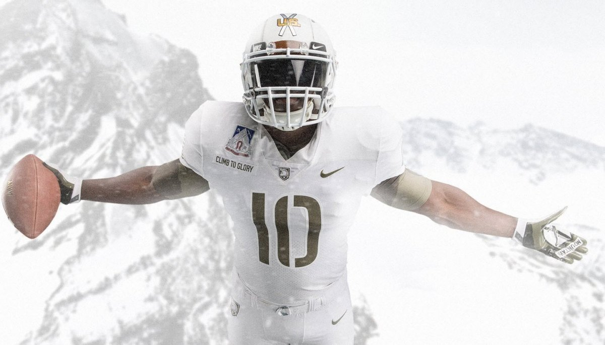 0be1de0c3 The  ArmyNavyGame uniforms every year are just so fantastic. This year Army  honors the