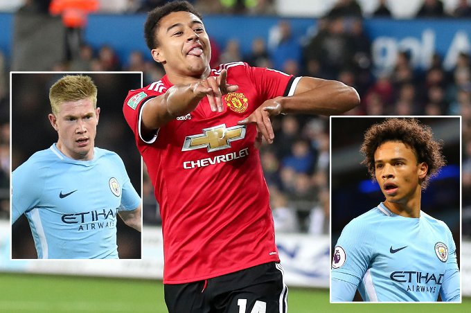 Manchester United's Jesse Lingard should be considered in same bracket as City's Kevin De Bruyne and Leroy Sane | @StanCollymore https://t.co/aGxytCZlpm