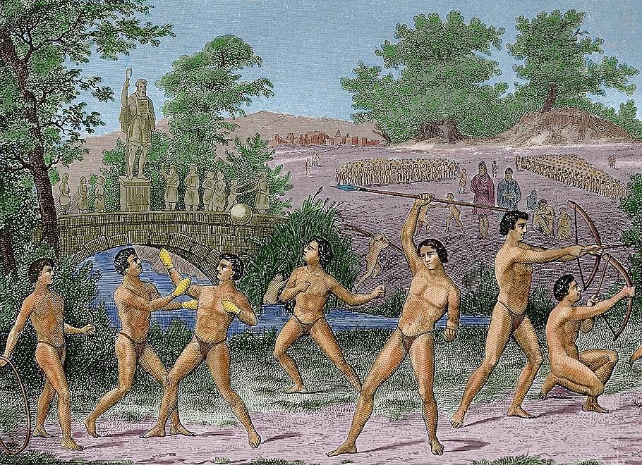 Фото с олимпийских игр древней греции
