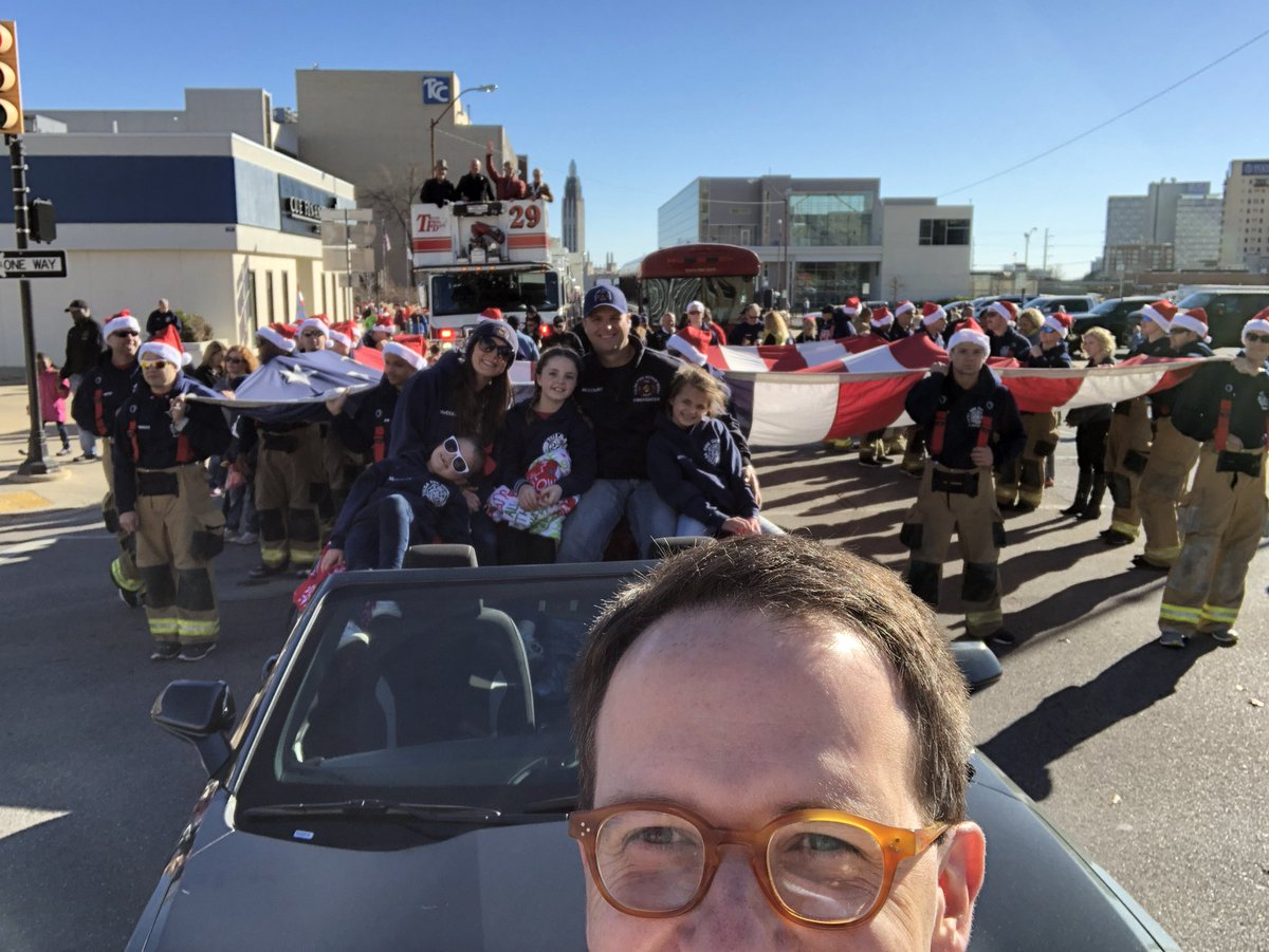 It S Time For The Tulsa Christmas Parade Looking Forward To Marching With Tulsafire Firefighter Of Year And Cadety Friends From