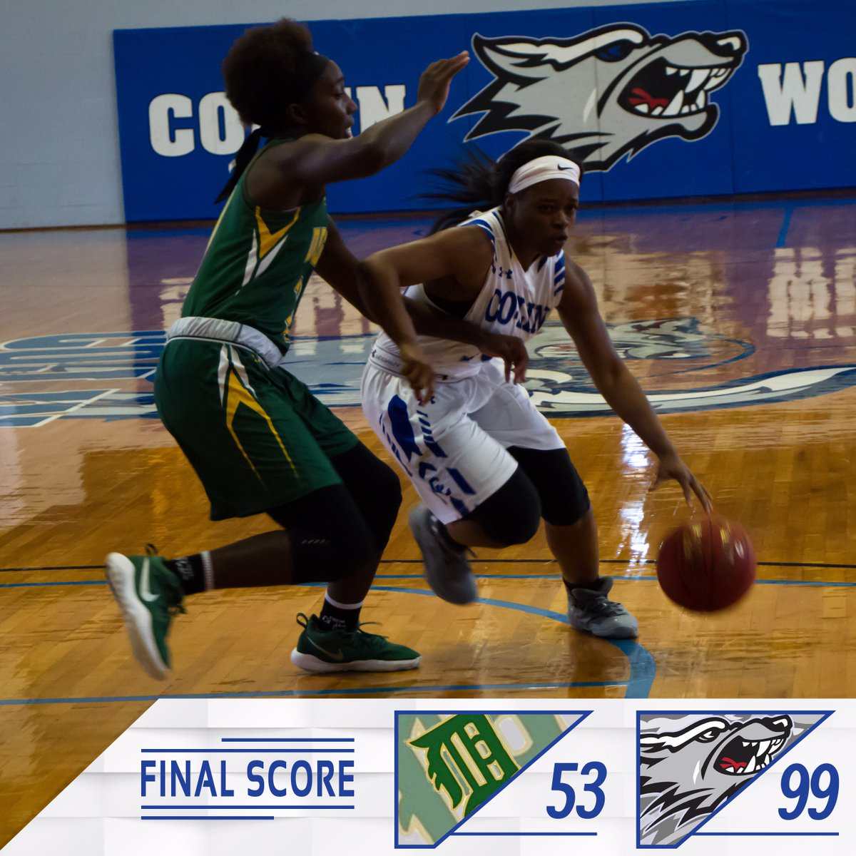FINAL | Lady Wolves roll by Delgado 99-53! The win moves the Lady Wolves to 9-1 on the year! #BackThePack