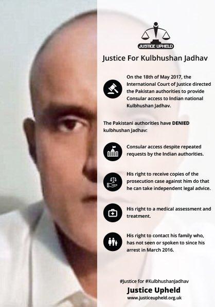 #Kulbhushanjadhav Latest News Trends Updates Images - Justice_Upheld