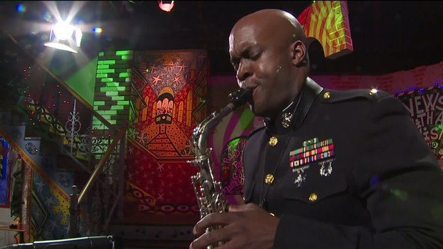 Marine Corps Band New Orleans performs 'This Christmas' on the Twist Stage https://t.co/1aJO3mAlpx