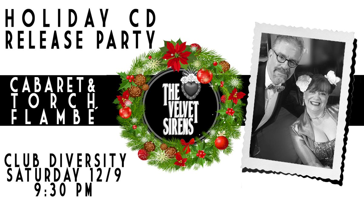 9:30 P.M. TONIGHT at Club Diversity in The @BrewerDistrict: @thevelvetsirens Holiday CD Release Party!!!!!   https://www. facebook.com/events/2202875 809939156/  …    http://www. clubdiversity.biz    <br>http://pic.twitter.com/Q8Oj3zb2Yr
