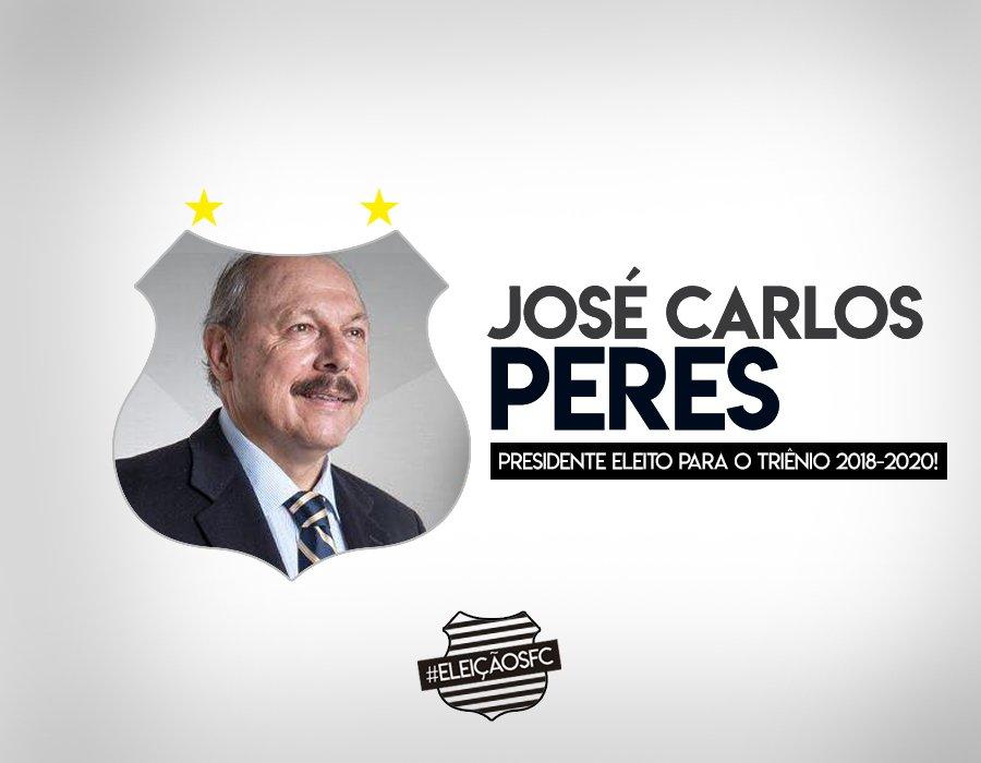 José Carlos Peres é o novo presidente do Santos! #EleiçãoSFC