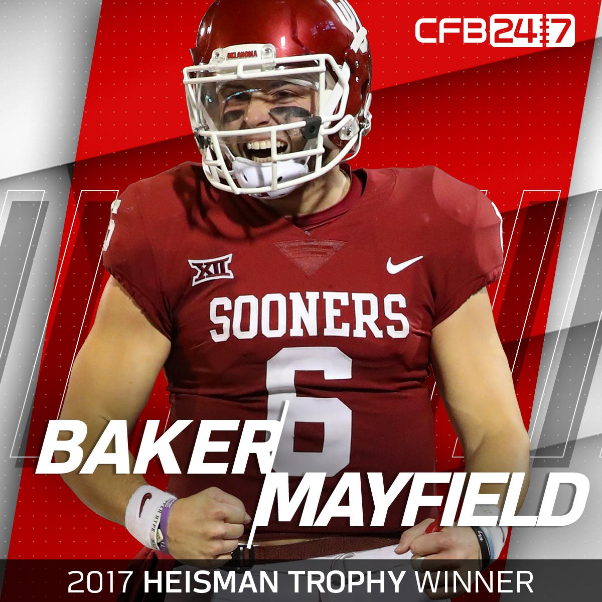 The 2017 #Heisman Trophy goes to @OU_Football's Baker Mayfield!