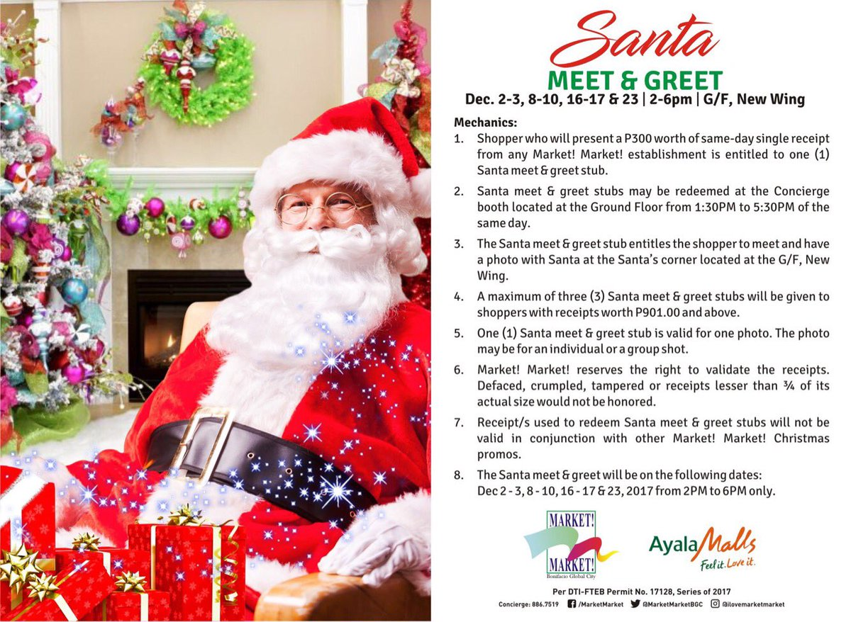 Market Market On Twitter How To Meet And Greet Santa Today Shop