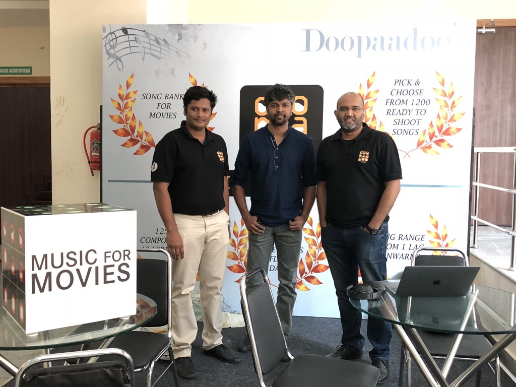 Here in @doopaadoo stall in Producer Council AGM with @KauntheyaS to introduce our new #MusicForMovies service.