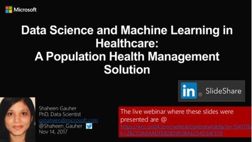 #Microsoft: #Data Science &amp; #MachineLearning in #Healthcare - #Population Health Management Solution  https:// goo.gl/UxnjtH  &nbsp;   #HealthIT #digitalhealth #ehealth #mhealth #innovation #healthtech #Healthapps<br>http://pic.twitter.com/w88xJ2zVae