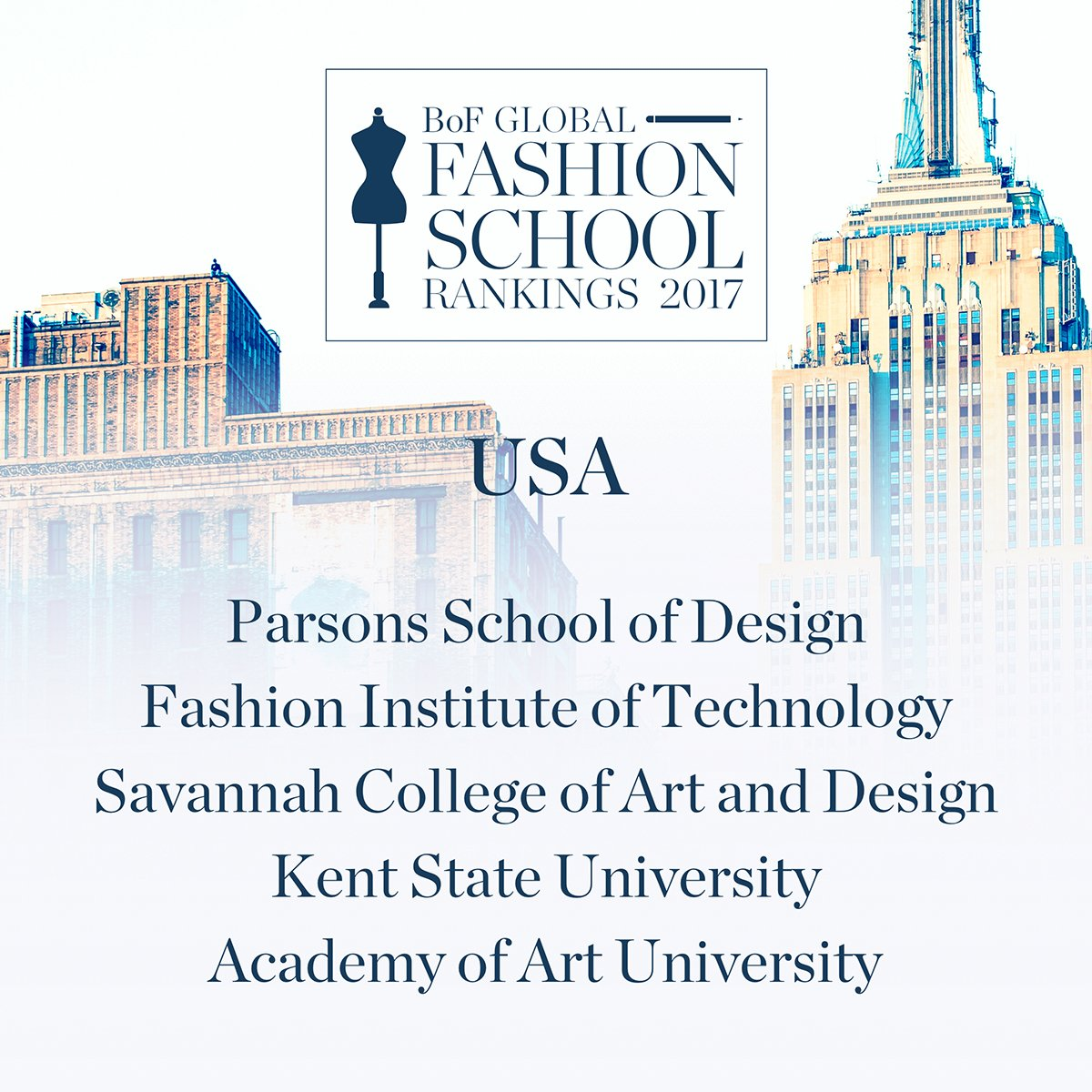 The Top 20 Fashion Schools in the US: The Full List - Fashionista 95