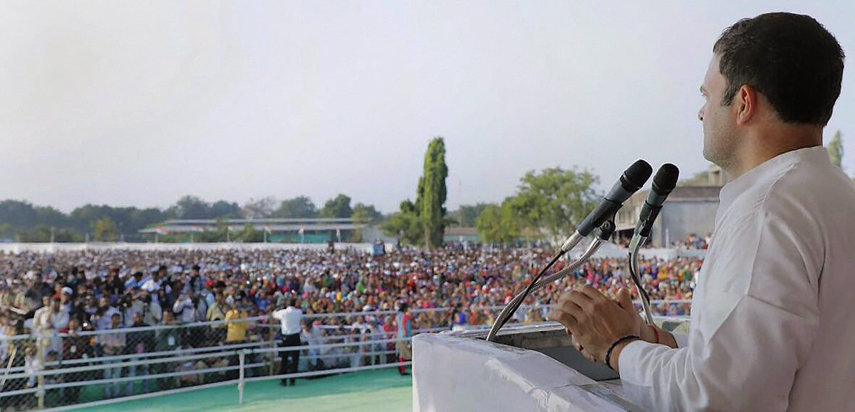Congress Vice President #RahulGandhi says, NDA government has taken a U-turn on development issues.