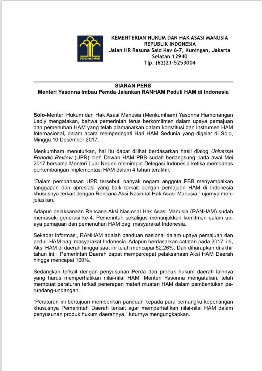 Sebutkan Upaya Penegakan Hak Asasi Manusia Di Indonesia ...