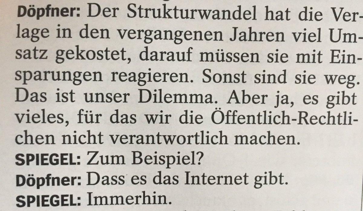 RT @siegstyle: Dialog des Tages (Springer-Chef Döpfner im SPIEGEL-Interview). https://t.co/czsi7aLB9k