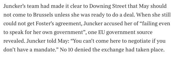 Humiliating Theresa May vignette as related by Sunday Times
