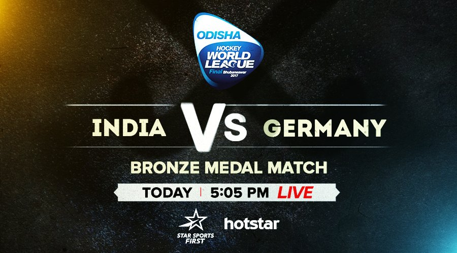 .@TheHockeyIndia will aim to finish the year on a winning note as they take on Germany for the Bronze medal in the Odisha Men's #HWL2017 Final! Watch all the action LIVE, only on Star Sports First.