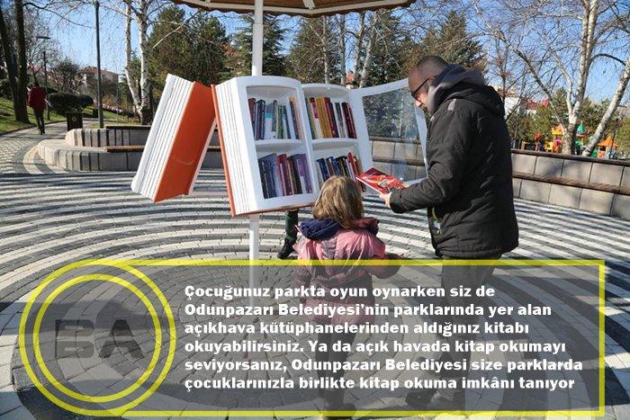 Odunpazarı Belediyesi'nden kitap kurtlar...