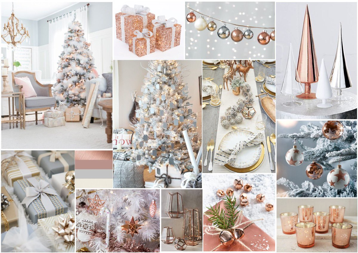 Dane Manor Interiors On Twitter Christmas Colour Scheme Rose Gold White Grey Inspiration Christmasdecor Decoration Colours Whitechristmas Https T Co Vuw0shj3by