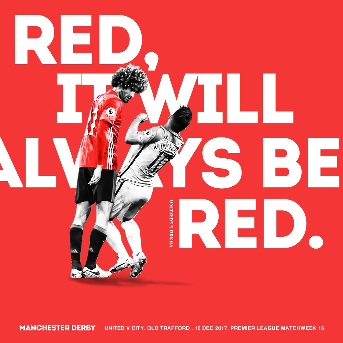Manchester is red #mufc #mcfc #MUNMCI