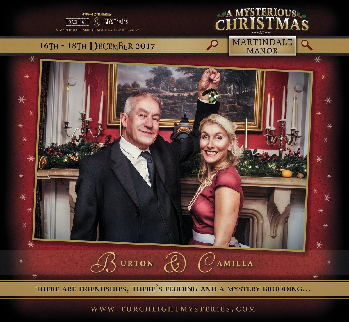 enjoy a christmas mystery in a festive setting at wymering manor httpwwwtorchlightmysteriescom portsmouth hampshire theatre - A Christmas Mystery