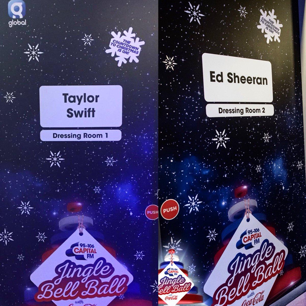 Oh hey @taylorswift13 & @edsheeran 👋 #CapitalJBB #TaylorSwift #EdSheeran