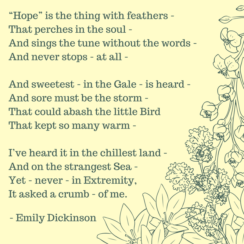 Nea Big Read Lakeshore On Twitter Emily Dickinson Was Born On This Day In 1830 Here S One Of Her Most Famous Poems Which Dickinson Poem Do You Love To Read Https T Co 0a17fvbb04