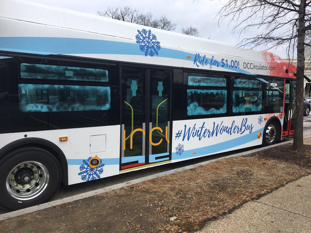 Getting a sneak peek of the new D.C. Circulator Christmas-themed bus. It'll  be on the streets thru Jan 5! #WinterWonderBus @DDOTDC @nbcwashington… ...